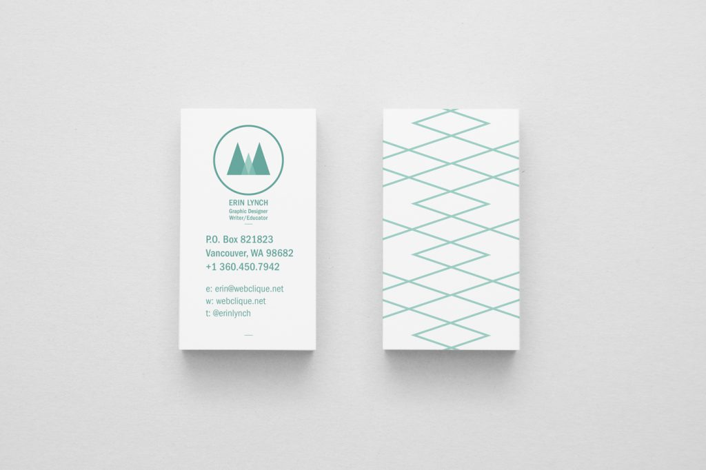 Erin Lynch business card design