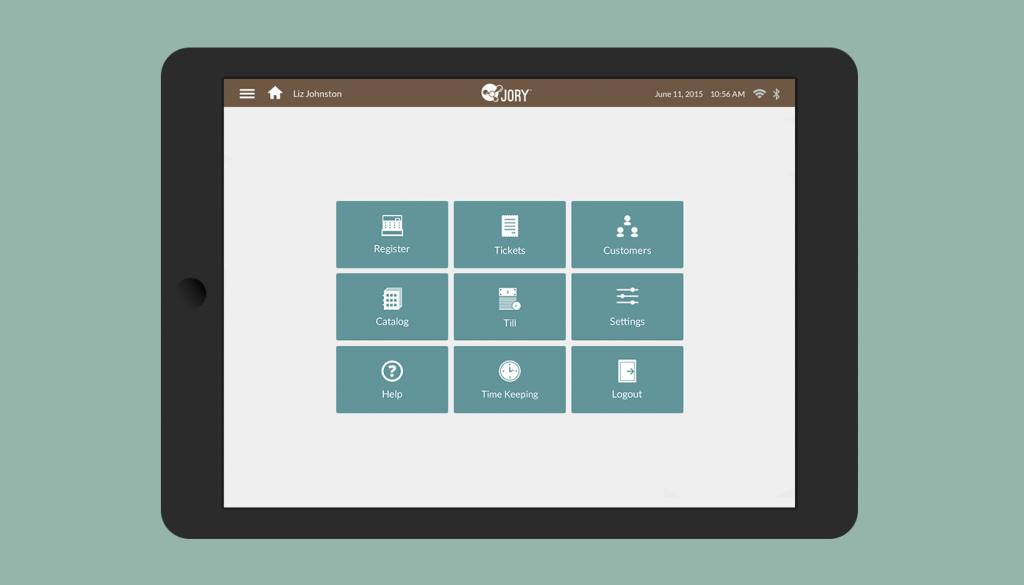 Jory UI home screen