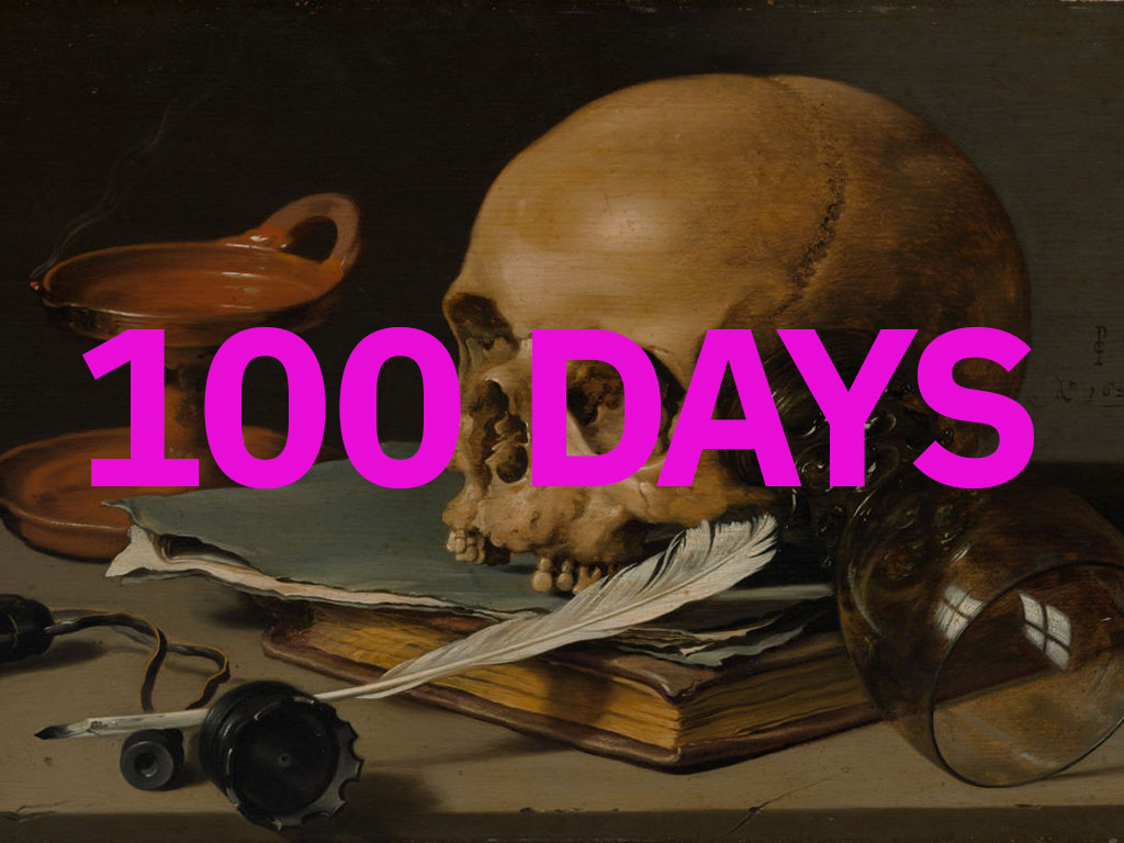 100 days of writing skull