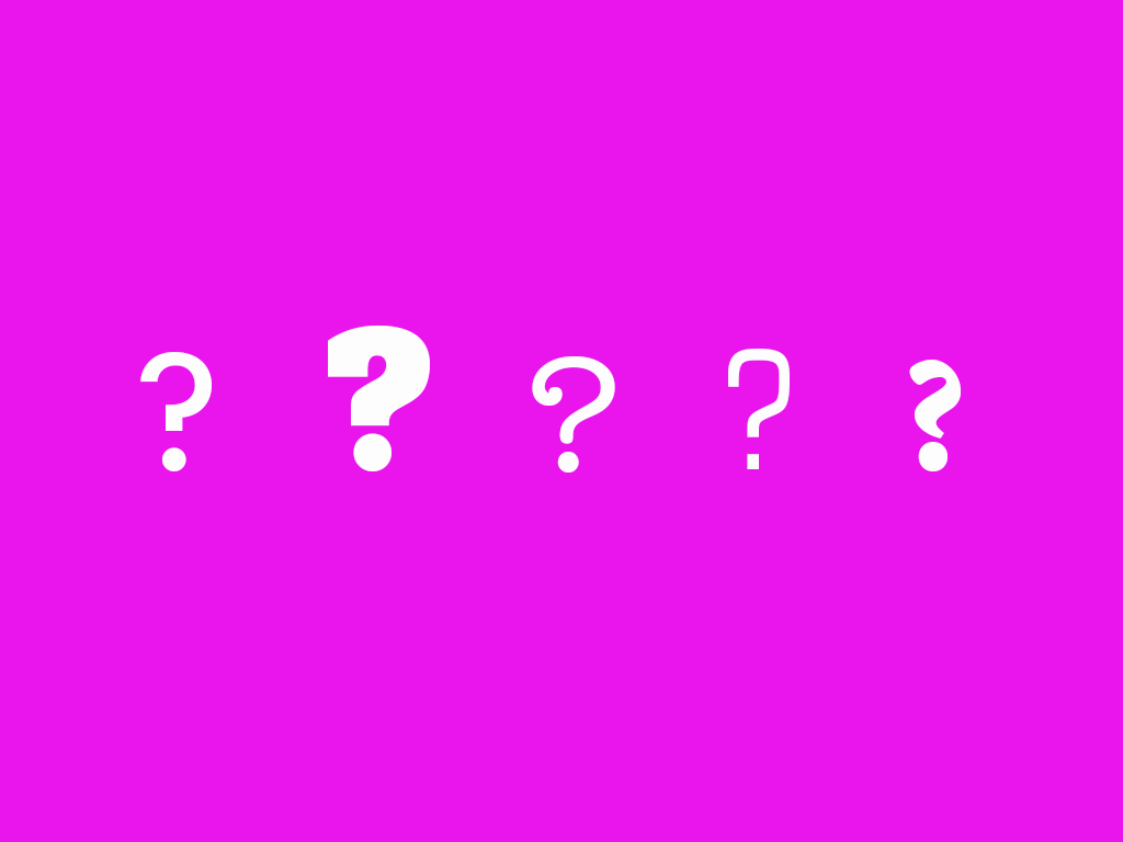 Truth illustration. question marks on colored background